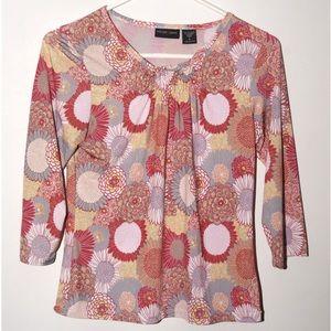 1/2 sleeve floral shirt